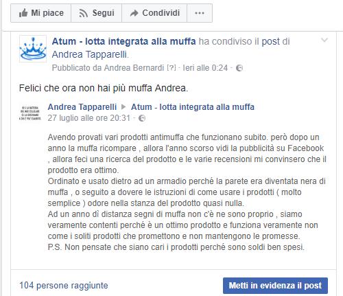 testimonianza antimuffa atum andrea tapparelli