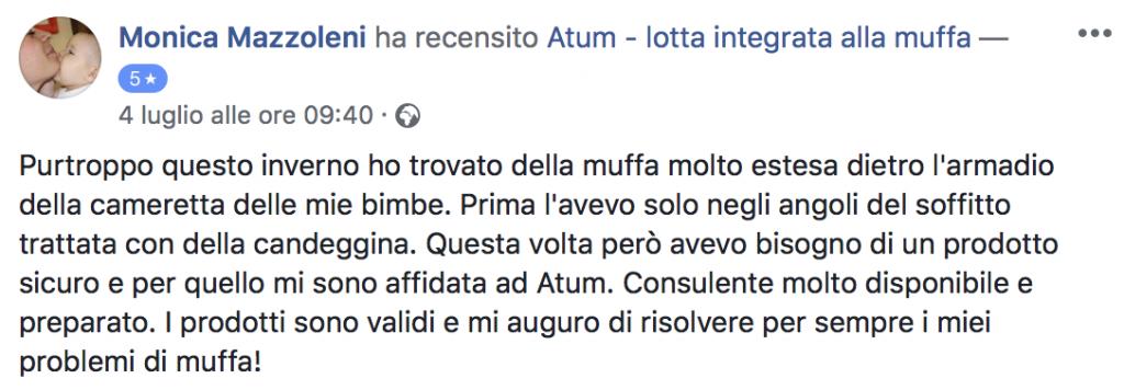 testimonianza atum mazzoleni