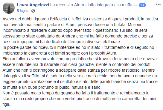 testimonianza antimuffa atum laura angelozzi