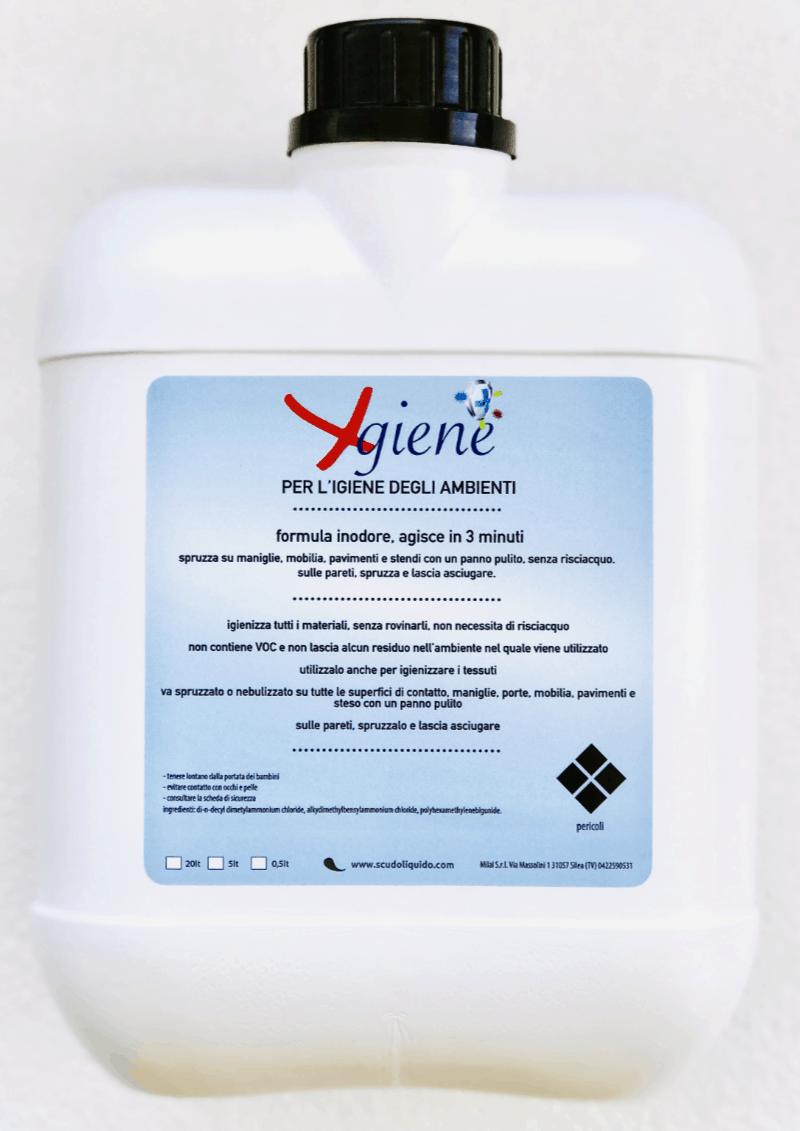 X-giene - igienizzante inodore per tutti i materiali