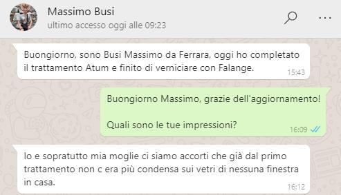 Immagine testimonianza Atum antimuffa Massimo Busi
